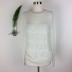 Moda International Gorgeous Sequined Top Size (L)